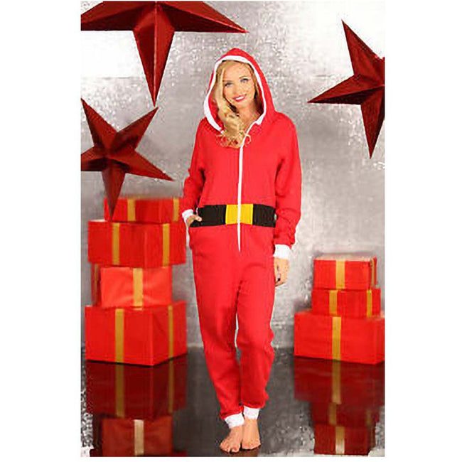 Red - Back - Christmas Shop Unisex Santa All-In-One - Onesie