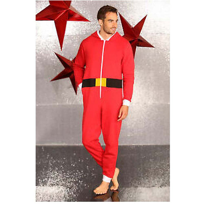 Red - Side - Christmas Shop Unisex Santa All-In-One - Onesie
