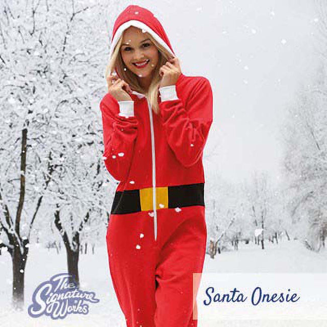 Red - Lifestyle - Christmas Shop Unisex Santa All-In-One - Onesie