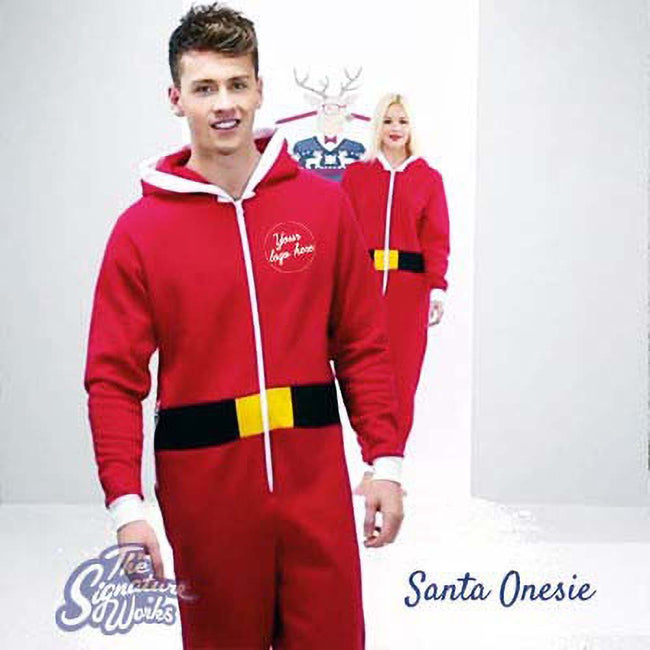 Red - Pack Shot - Christmas Shop Unisex Santa All-In-One - Onesie