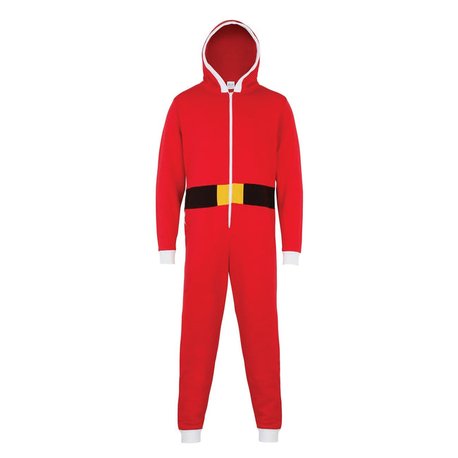 Red - Front - Christmas Shop Unisex Santa All-In-One - Onesie