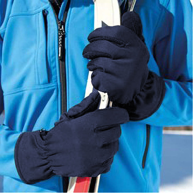 French Navy - Back - Beechfield Unisex Classic Thinsulate Thermal Winter Gloves