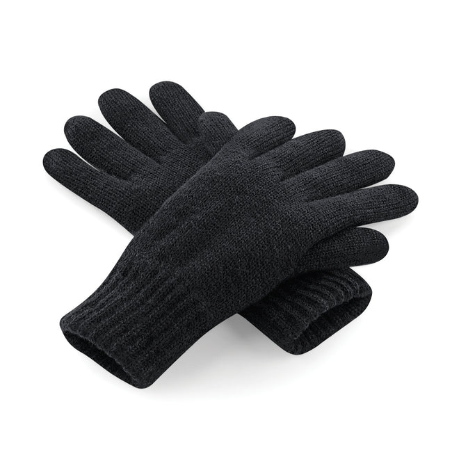 Black - Front - Beechfield Unisex Classic Thinsulate Thermal Winter Gloves
