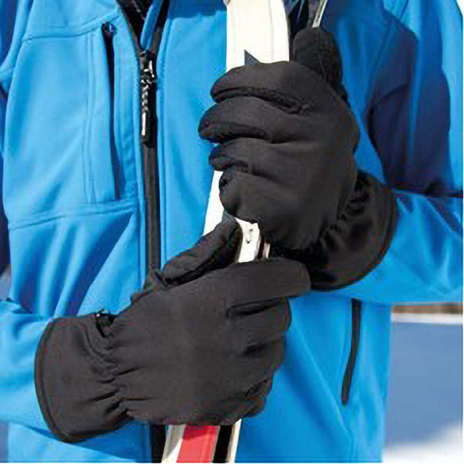Black - Back - Beechfield Unisex Classic Thinsulate Thermal Winter Gloves