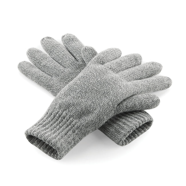 Heather Grey - Front - Beechfield Unisex Classic Thinsulate Thermal Winter Gloves
