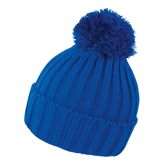 Royal - Front - Result Unisex Winter Essentials HDi Quest Knitted Beanie Hat