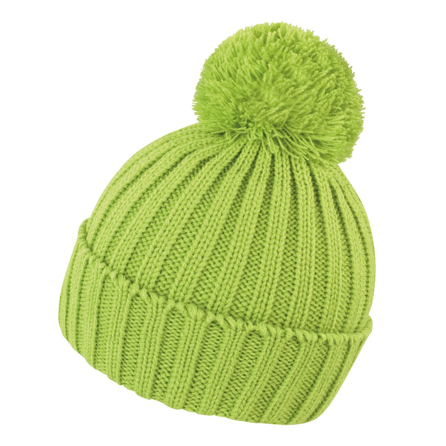 Lime - Front - Result Unisex Winter Essentials HDi Quest Knitted Beanie Hat