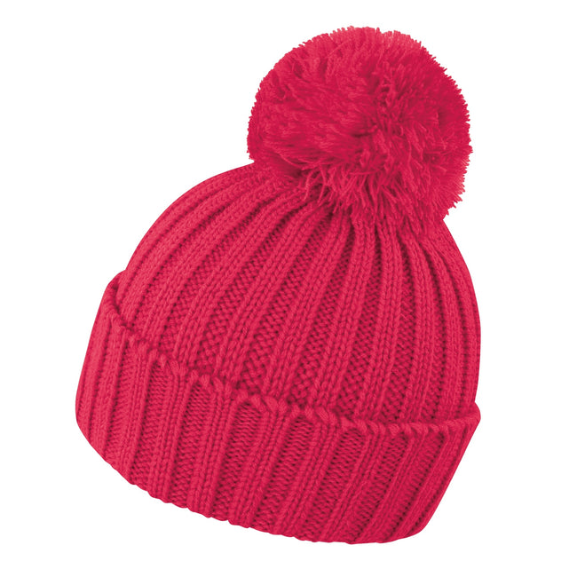 Raspberry - Front - Result Unisex Winter Essentials HDi Quest Knitted Beanie Hat