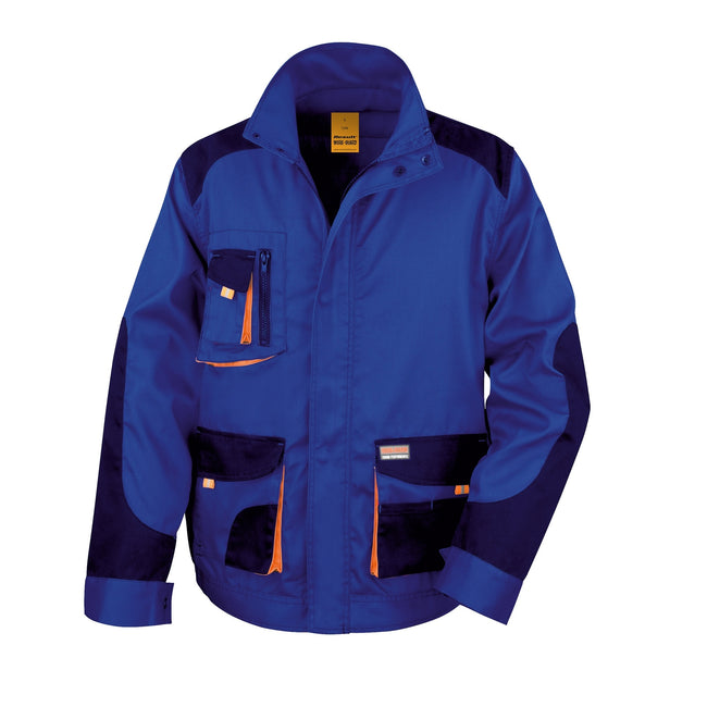 Royal - Navy - Orange - Front - Result Mens Work-Guard Lite Workwear Jacket (Breathable And Windproof)