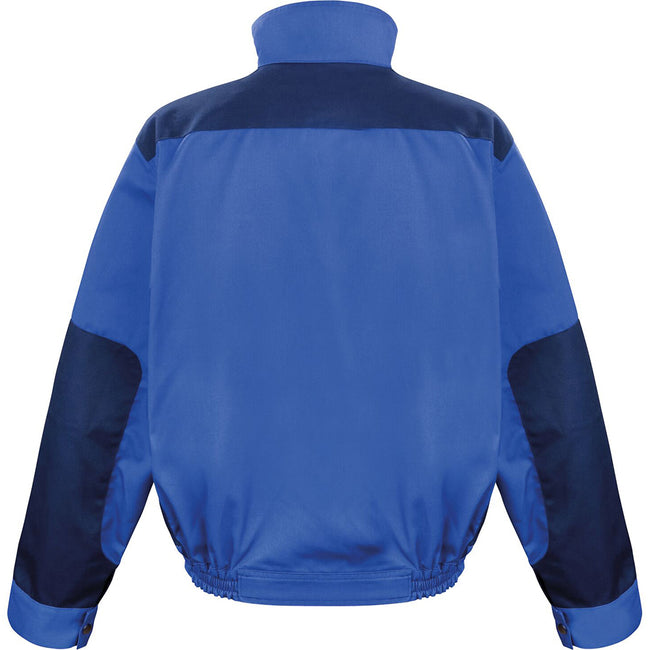 Royal - Navy - Orange - Back - Result Mens Work-Guard Lite Workwear Jacket (Breathable And Windproof)