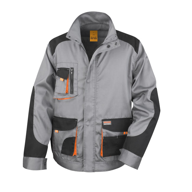 Grey Black - Orange - Front - Result Mens Work-Guard Lite Workwear Jacket (Breathable And Windproof)