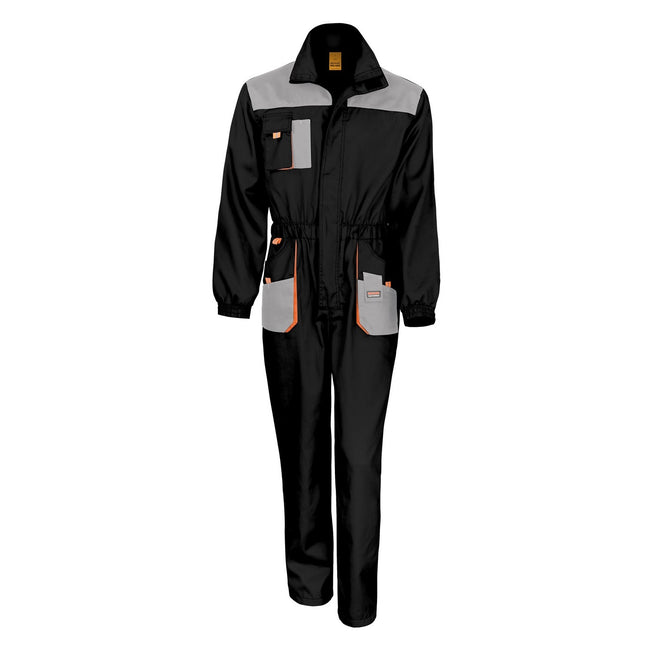 Black - Grey - Orange - Front - Result Unisex Work-Guard Lite Workwear Coverall (Breathable And Windproof)