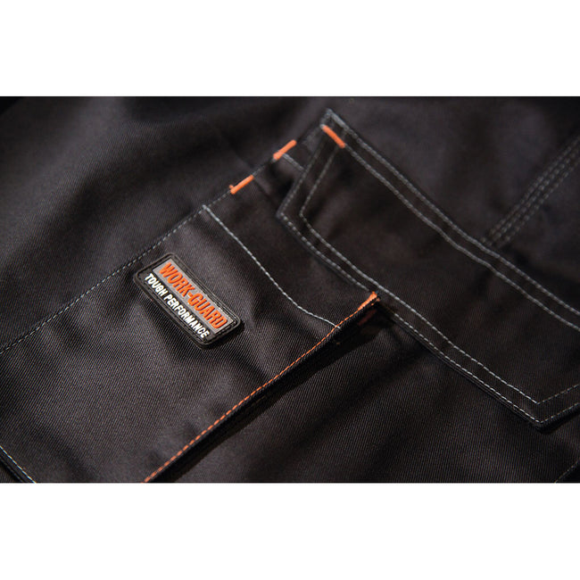Black - Back - Result Unisex Work-Guard Lite X-Over Holster Workwear Trousers (Breathable And Windproof)
