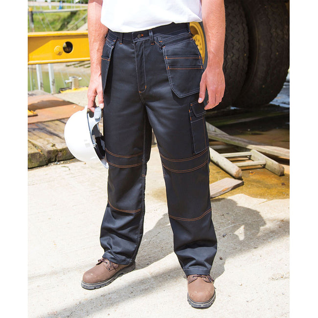 Black - Lifestyle - Result Unisex Work-Guard Lite X-Over Holster Workwear Trousers (Breathable And Windproof)