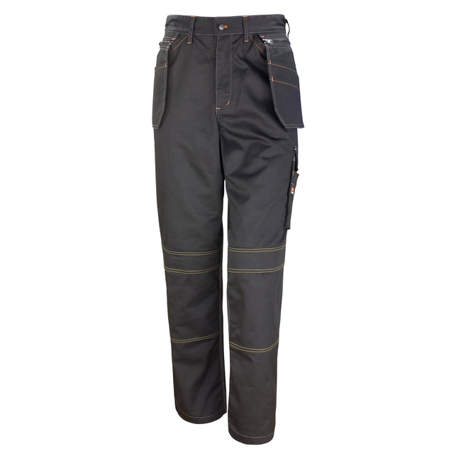 Black - Front - Result Unisex Work-Guard Lite X-Over Holster Workwear Trousers (Breathable And Windproof)