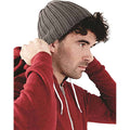 Charcoal - Back - Beechfield Unisex Chunky Ribbed Winter Beanie Hat