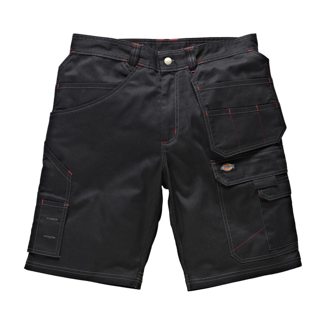 Black - Front - Dickies Mens Redhawk Pro Reinforced Work Shorts
