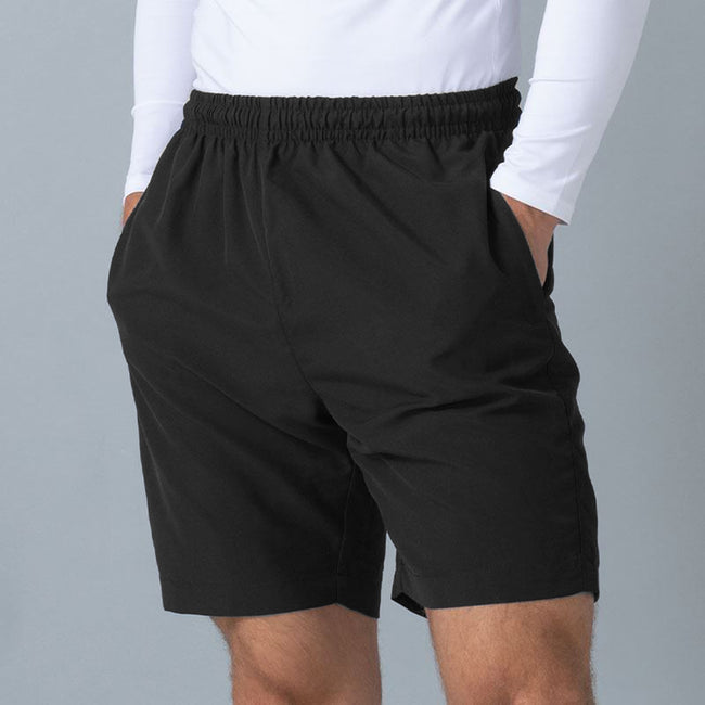 Navy - Front - Finden & Hales Womens-Ladies Microfibre Sports Shorts