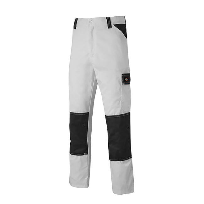White-Grey - Front - Dickies Mens Everyday Durable Cargo Pocket Work Trousers