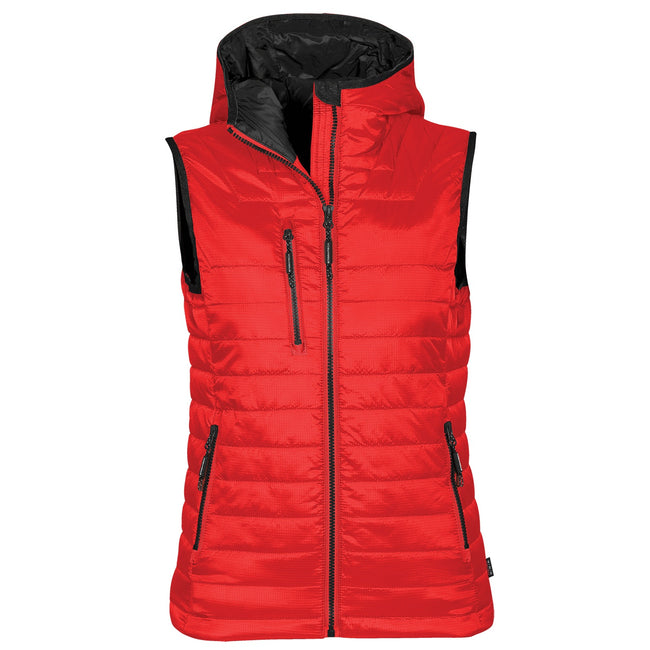 True Red- Black - Front - Stormtech Womens Gravity Thermal Vest-Gilet