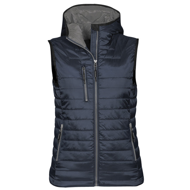 Navy- Charcoal - Front - Stormtech Womens Gravity Thermal Vest-Gilet