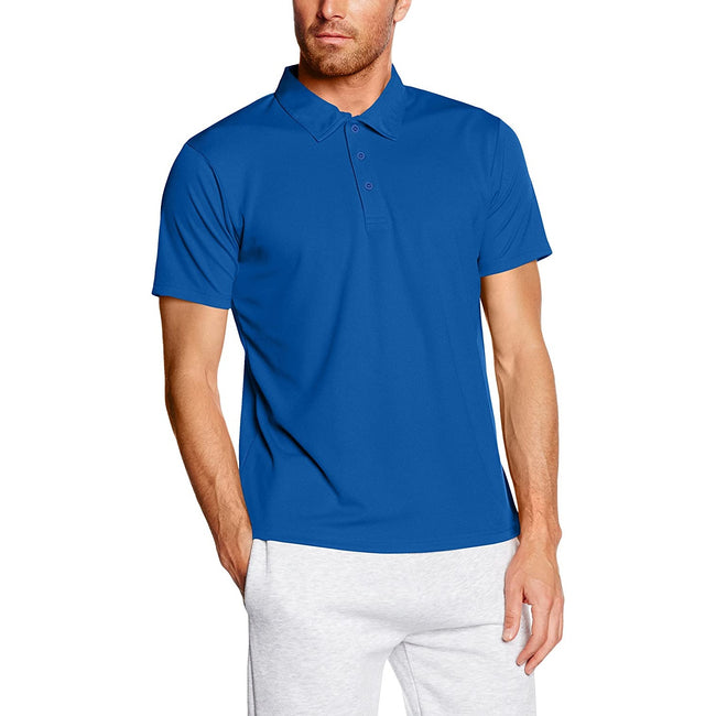 Deep Navy - Front - Fruit Of The Loom Mens Moisture Wicking Short Sleeve Performance Polo Shirt