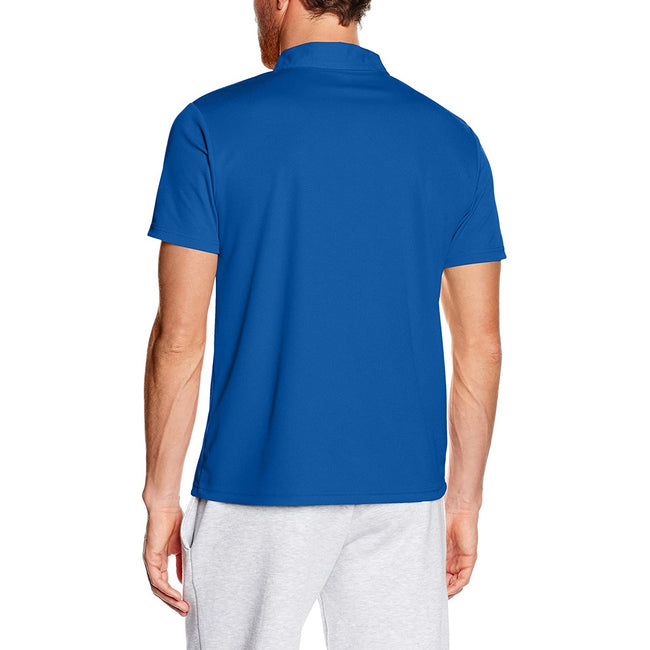 Red - Front - Fruit Of The Loom Mens Moisture Wicking Short Sleeve Performance Polo Shirt