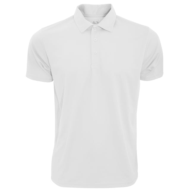 White - Front - Fruit Of The Loom Mens Moisture Wicking Short Sleeve Performance Polo Shirt