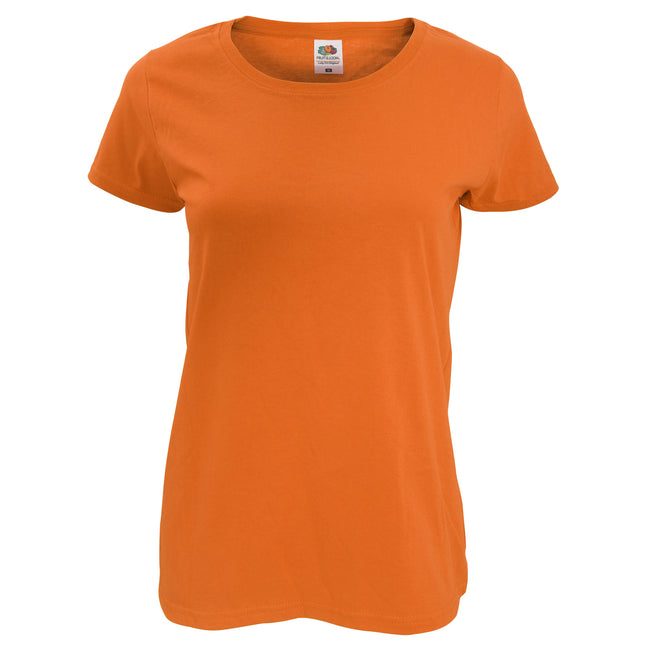 Red - Back - Fruit Of The Loom Womens-Ladies Short Sleeve Lady-Fit Original T-Shirt