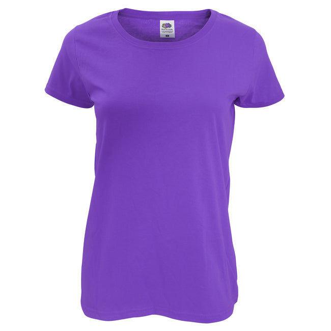 Royal Blue - Back - Fruit Of The Loom Womens-Ladies Short Sleeve Lady-Fit Original T-Shirt