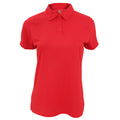 Red - Front - Fruit Of The Loom Womens-Ladies Moisture Wicking Lady-Fit Performance Polo Shirt