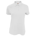 White - Front - Fruit Of The Loom Womens-Ladies Moisture Wicking Lady-Fit Performance Polo Shirt