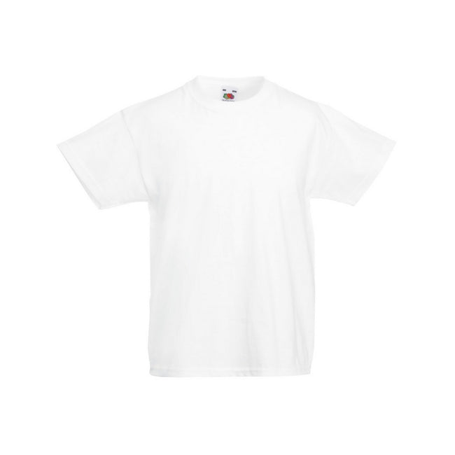 White - Front - Fruit Of The Loom Childrens-Teens Original Short Sleeve T-Shirt