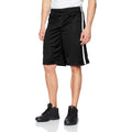 Black-White - Back - Spiro Mens Quick Dry Basketball Shorts