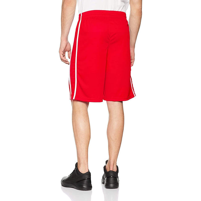 Red-White - Side - Spiro Mens Quick Dry Basketball Shorts