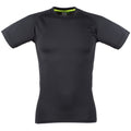 Black - Black - Front - Tombo Teamsport Mens Slim Fit Short Sleeve T-Shirt