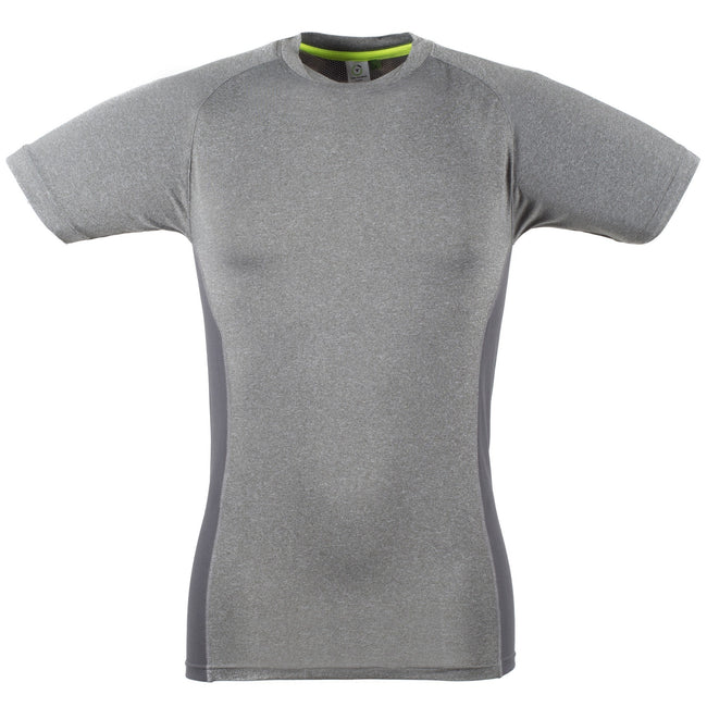 Grey Marl - Grey - Front - Tombo Teamsport Mens Slim Fit Short Sleeve T-Shirt
