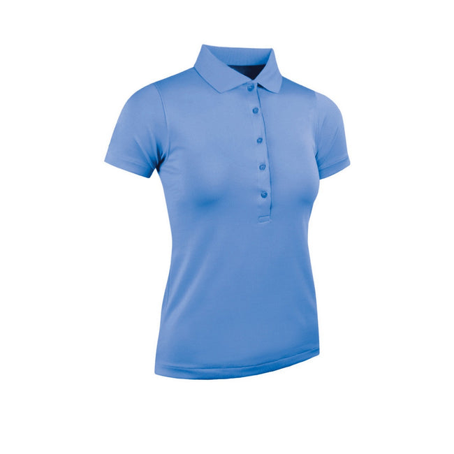 Light Blue - Front - Glenmuir Womens-Ladies Performance Pique Polo Shirt