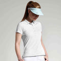 White - Back - Glenmuir Womens-Ladies Performance Pique Polo Shirt