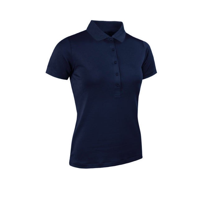 Navy - Front - Glenmuir Womens-Ladies Performance Pique Polo Shirt