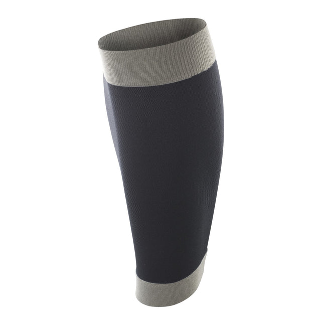 Black-Grey - Front - Spiro Adult Unisex Contrast Compression Calf Guards