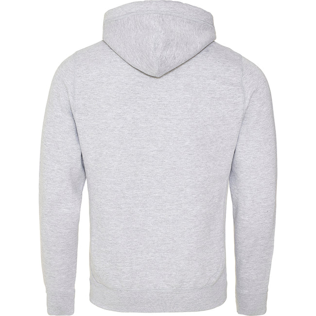 Heather Grey - Back - AWDis Hoods Mens Cross Neck Hoodie