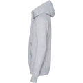 Heather Grey - Side - AWDis Hoods Mens Cross Neck Hoodie