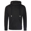 Jet Black - Front - AWDis Hoods Mens Cross Neck Hoodie