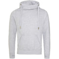 Heather Grey - Front - AWDis Hoods Mens Cross Neck Hoodie
