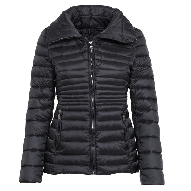Black - Front - 2786 Womens-Ladies Contour Quilted Jacket