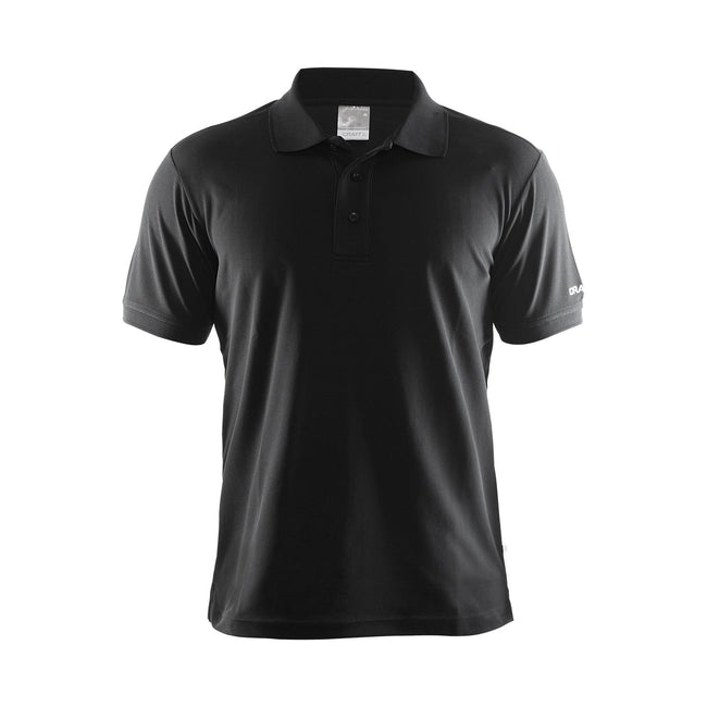 Red - Front - Craft Mens Classic Pique Short Sleeve Polo Shirt