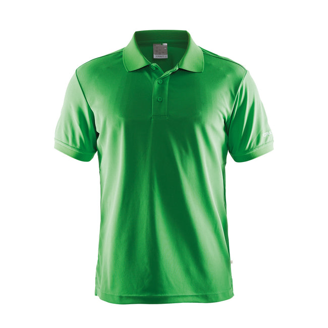 White - Front - Craft Mens Classic Pique Short Sleeve Polo Shirt