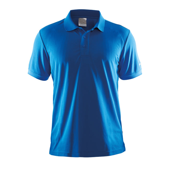 Green - Front - Craft Mens Classic Pique Short Sleeve Polo Shirt