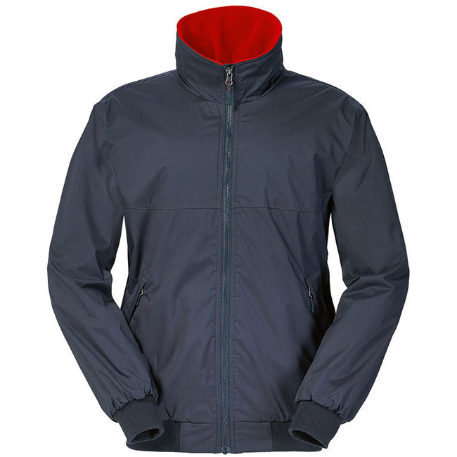 True Navy-True Red - Front - Musto Mens Snug Blouson II Showerproof Jacket